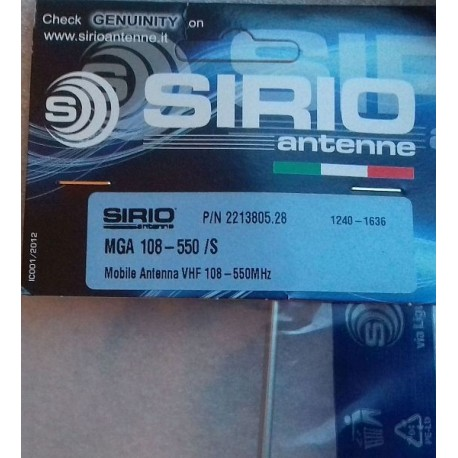 MGA 108-550 S antena samochodowa VHF SIRIO