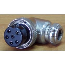Wtyk mikrofonowy katowy 6 pin