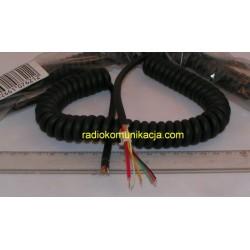Kabel Mikrofonowy 6-pin spiralny długi